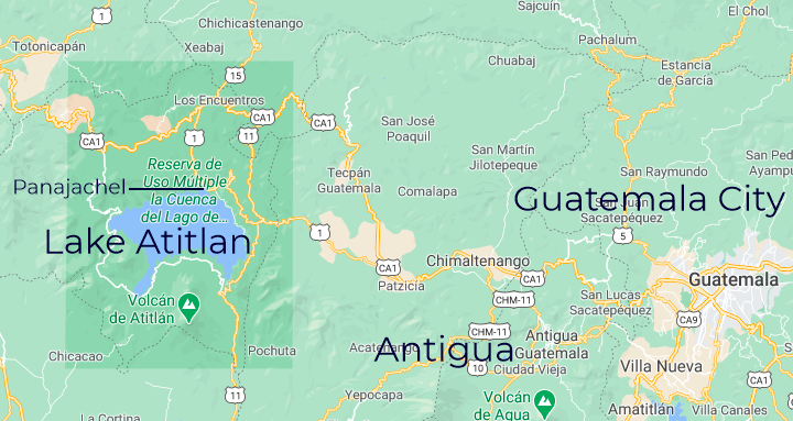 Guatemalan Western Highlands Map